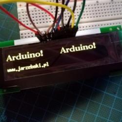 LCD OLED 3.1'' SPI SSD1322 ARDUINO kolor żółty