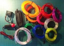 10x Przewody elektroluminescencyjne neon ELWire 5m