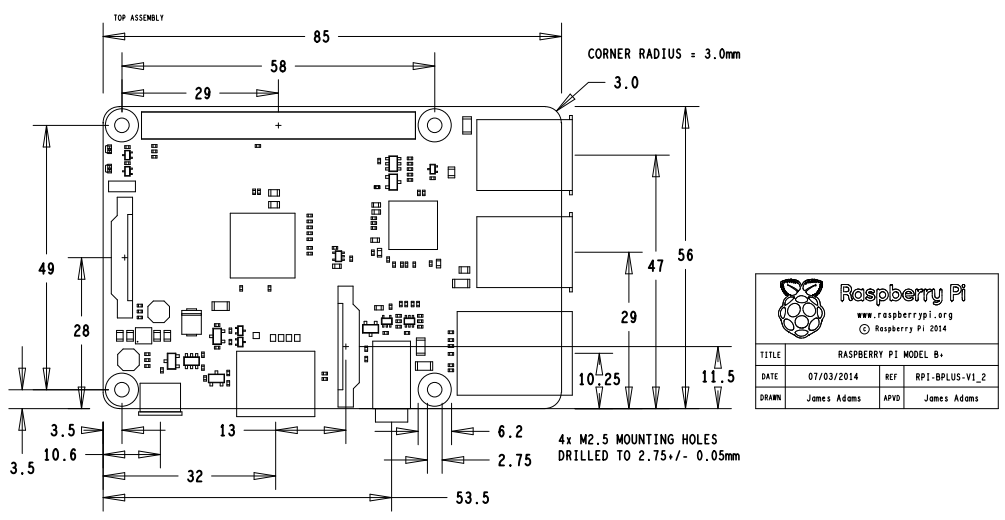 Odswiezony Raspberrypi Model B Za 35 likewise Modmypi Modular Rpi B Plus Case Spacer Screw Pack 58mm together with  on introducing raspberry pi model b plus
